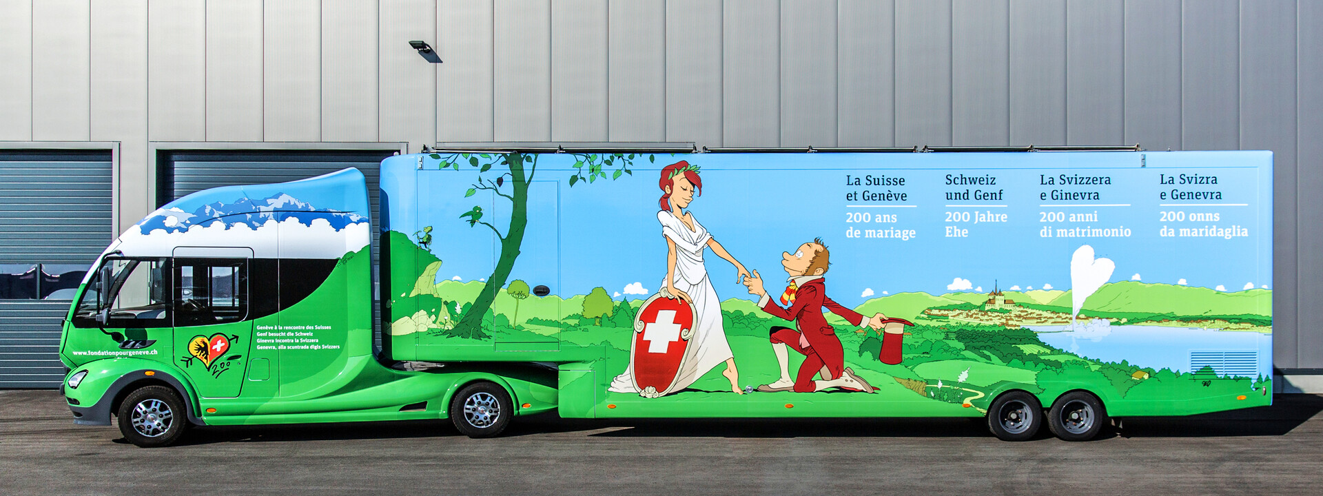 Fondation Geneve Schweiz Showtruck